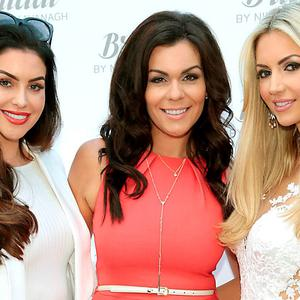 Suzanne Jackson, Nikki Kavanagh and Rosanna Davison at the launch of Bridal by Nikki Kavanagh in Ratoath. Picture: Brian McEvoy