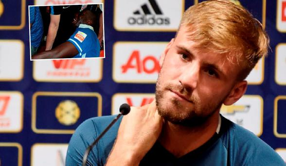 Luke Shaw sent a classy message to Demba Ba after his leg break (inset)