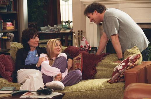 Katey Sagal, left, and Kaley Cuoco, centre in 8 Simple Rules