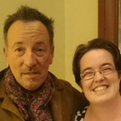 Ger Holland (25) meets her hero Bruce Springsteen.