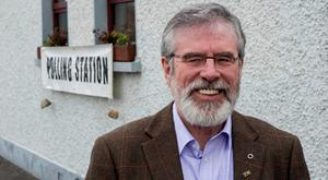 Gerry Adams voting during this year's general election