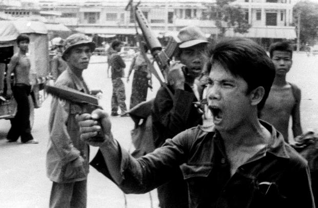 A member of the Khmer Rouge in Cambodia. Photo: AP