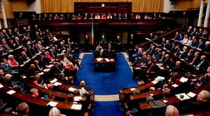 To paraphrase Seamus Heaney, the overriding feeling in Leinster House these days is 'whatever you do, do nothing'. Photo: Maxwells