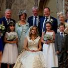 Gda Rogers was best man (centre behind bride) at Dermot Ryan and Sinead Leydon's wedding