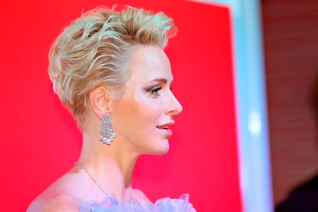 Princess Charlene of Monaco arrives to attend the 68th annual Red Cross Gala
