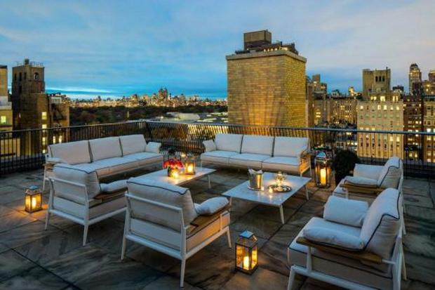 The rooftop terrace of the penthouse suite at The Mark Hotel