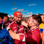Joe Canning of Galway is congratulated by supporters following his side's victory over Clare