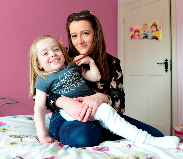 Grace with her mum Grainne Photo: Ciara Wilkinson