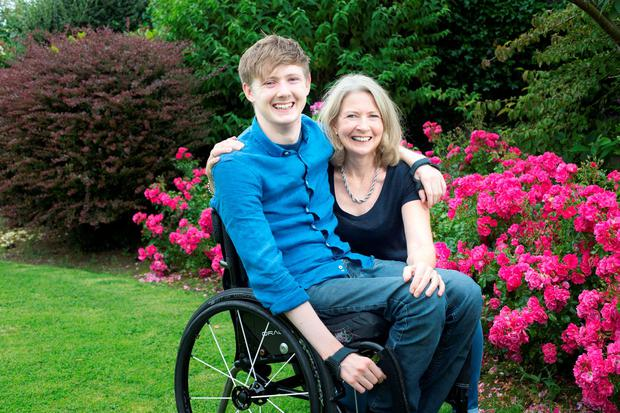 Jack with his mother Elmarie. Photo: Tony Gavin