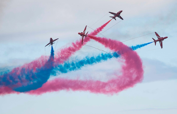 The spectacular Red Arrows Photo: Gareth Chaney, Collins