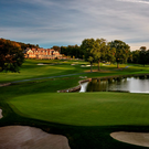 A magnificent view of Baltusrol Golf Club with the clubhouse in the background. Photo: PGA