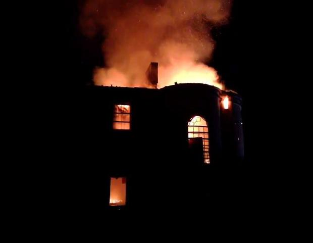 Pictured: The fire at Mount Vernon (Photo: Twitter/@higginskev)