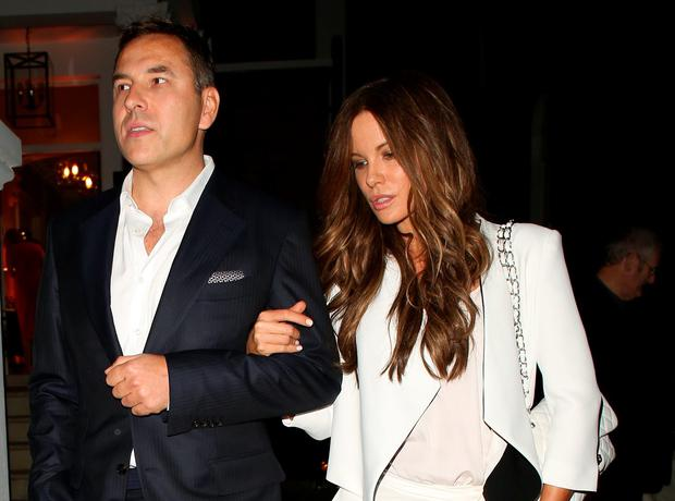 David Walliams and Kate Beckinsale in London