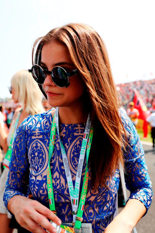 Model Barbara Palvin on the grid before the Formula One Grand Prix of Hungary at Hungaroring on July 24, 2016 in Budapest, Hungary. (Photo by Mark Thompson/Getty Images)