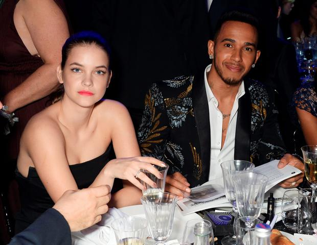 Barbara Palvin (L) and Lewis Hamilton attend amfAR's 23rd Cinema Against AIDS Gala at Hotel du Cap-Eden-Roc on May 19, 2016 in Cap d'Antibes, France. (Photo by Dave M. Benett/amfAR16/Dave Benett/WireImage)