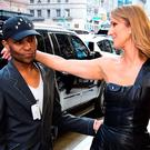 Stylist Law Roach with Celine Dion in New York