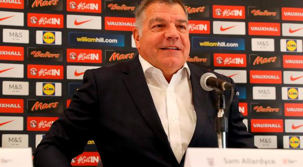 England manager Sam Allardyce during his first press conference