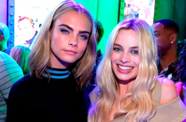 Cara Delevingne and Margot Robbie at Comic Con 2016