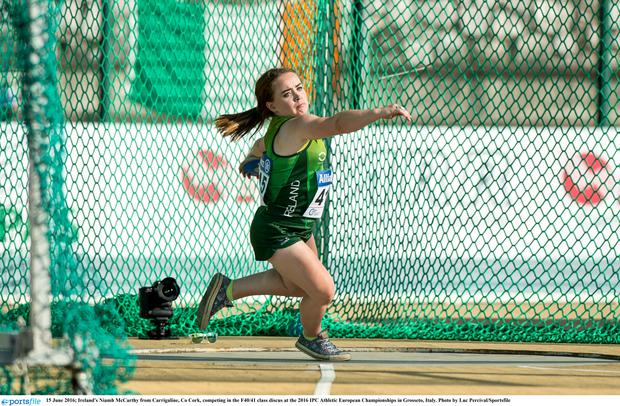 Ireland's Niamh McCarthy in action