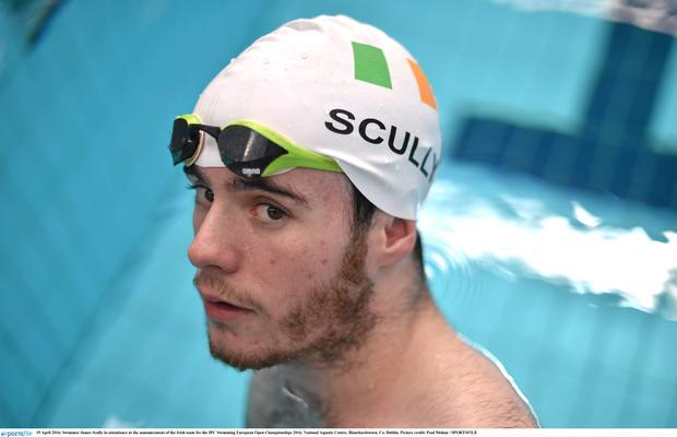 Swimmer James Scully