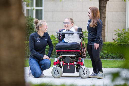 Pictured at the launch of Hidden Heroes in Dublin, from left Irish Paralympian,Greta Steimikyte; Activist and campaigner Joanne O'Riordan;Irish Paralympian,Niamh McCarthy