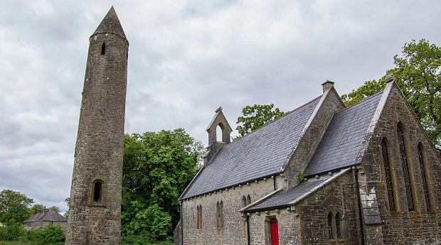 Timahoe Church and Round Tower
