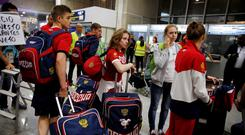 Members of the Russian Olympic team arrive in Rio airport. Picture Credit: REUTERS/Pilar Olivares