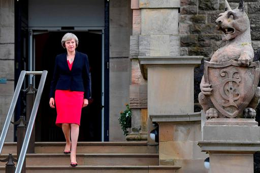 Prime Minister Theresa May leaving Stormont Castle. Photo: Charles McQuillan/Getty Images