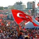 Turkish government supporters take to the streets in the wake of last week's coup Picture: Reuters