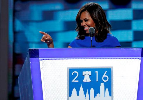Triumphant convention speech for Michelle Obama