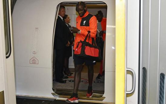 Sakho is said to have turned up late for his flight out to California CREDIT: GETTY IMAGES