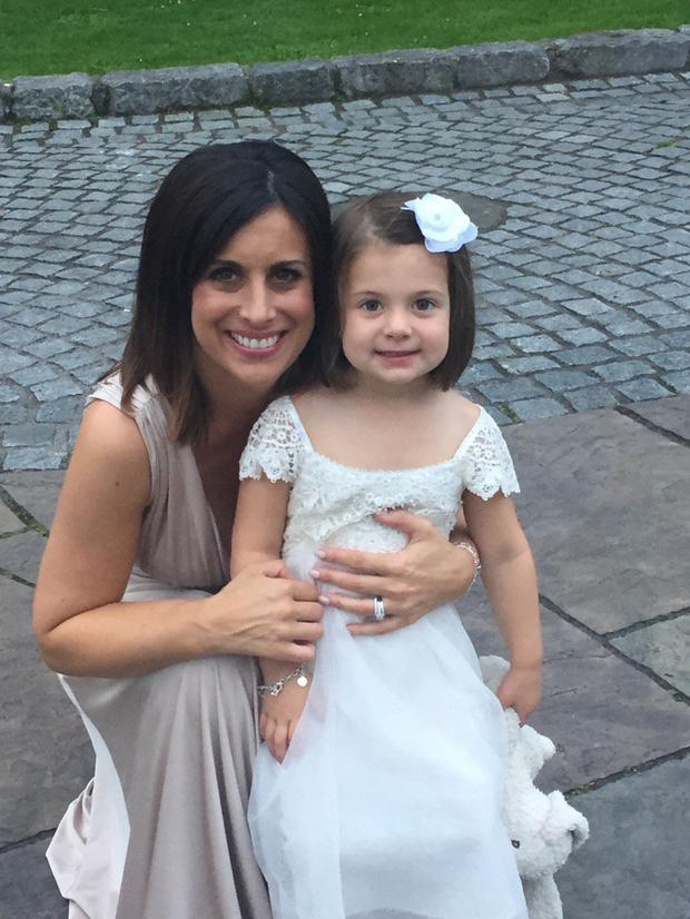 Lucy Kennedy with daughter Holly. Picture: Twitter