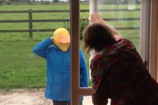 Triona Fitzpatrick surprised her family with a surprise homecoming