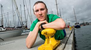 Annalise Murphy at the Poolbeg Yacht & Boat Club in Ringsend yesterday. Photo: Dan Sheridan/INPHO