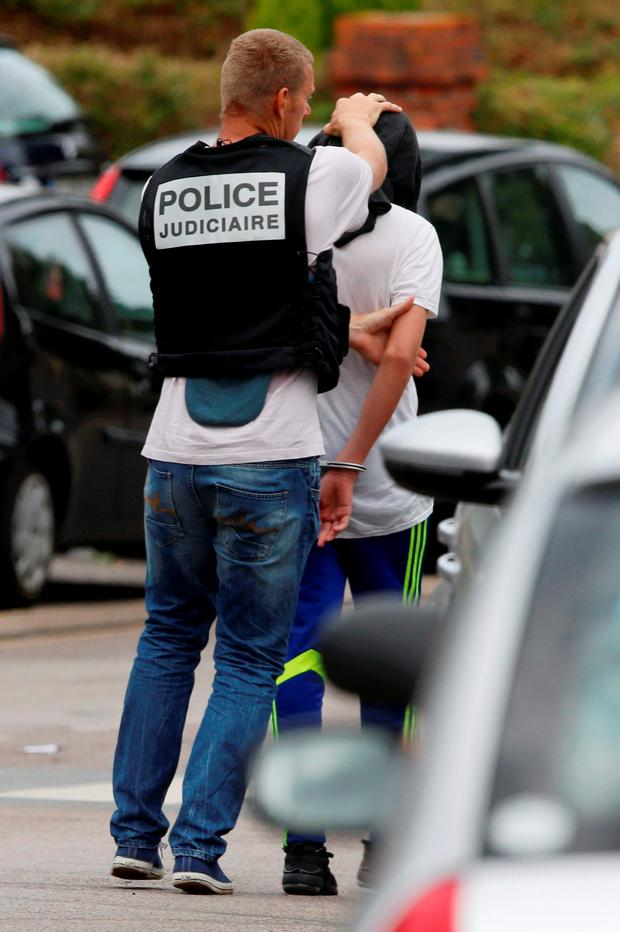 Police arrested one other person close to the scene. Photo: Reuters