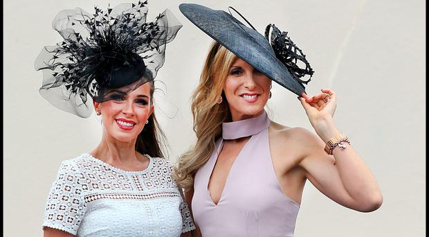 Sophie Small from Galway City and Michelle Murphy from Corofin Galway. Photo: Steve Humphreys