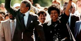 Nelson Mandela with his then wife, Winnie, as Mandela walked free from prison in 1990 after 27 years in jail. The Apartheid regime made a huge effort to segregate South Africa – but ultimately failed. Photo: Greg English/AP