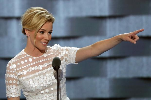 Actress Elizabeth Banks delivers remarks during the second day of the Democratic National Convention at the Wells Fargo Center, July 26, 2016 in Philadelphia, Pennsylvania. (Photo by Alex Wong/Getty Images)