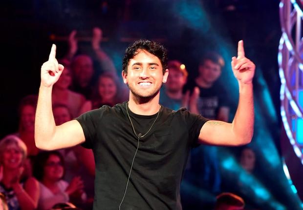 Hughie Maughan is evicted from the Big Brother house in Elstree, Borhamwood. Photo: Ian West/PA Wire