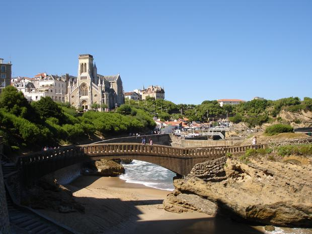 The French resort of Biarritz
