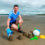 Dublin senior footballer Philly McMahon was at Portmarnock beach to promote AIG Insurance's offer of a 10% discount when travel insurance is bought online. Photo by Stephen McCarthy/Sportsfile