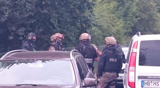 German police on scene in Bremen searching for missing Algerian