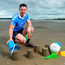 Philly McMahon on Portmarnock beach yesterday to promote AIG's new online offer for travel insurance. Photo: Stephen McCarthy/Sportsfile