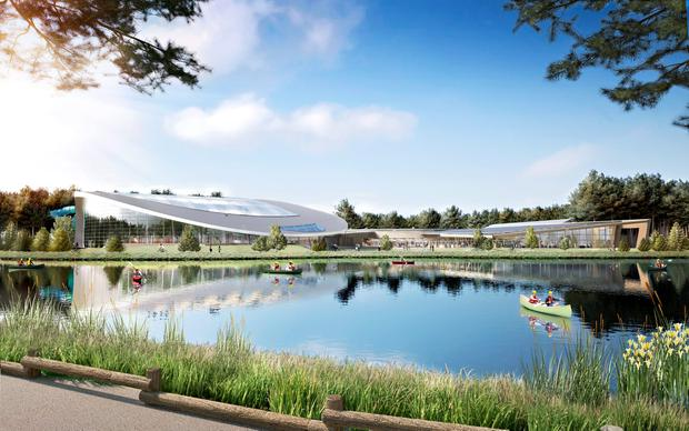 An artist's impression of how the Center Parcs in Longford will look