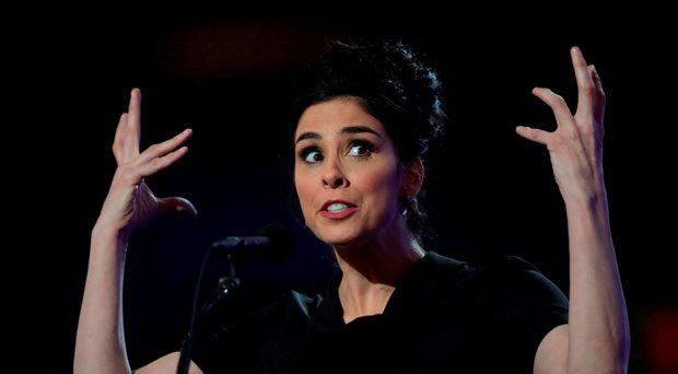 Comedian/actress Sarah Silverman speaks during the first day of the Democratic National Convention at the Wells Fargo Center, July 25, 2016 in Philadelphia, Pennsylvania