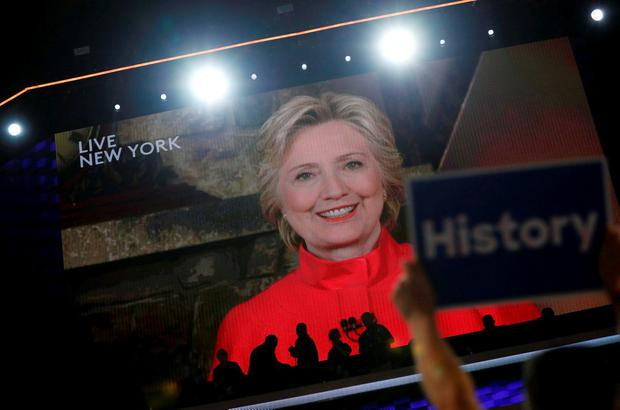 Glass ceiling: Hillary Clinton. Photo: Reuters