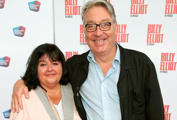 Colm Hayes and wife Anne at the Irish premiere of Billy Elliot The Musical atthe Bord Gais Energy Theatre. Pictures: Brian McEvoy