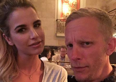 Vogue Williams with Billie Piper's estranged husband Laurence Fox