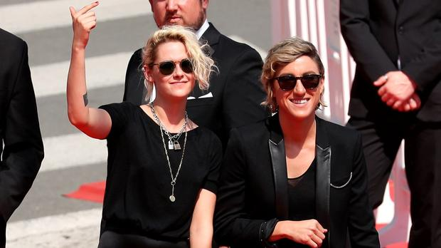 Kristen Stewart and Alicia Cargile attend the