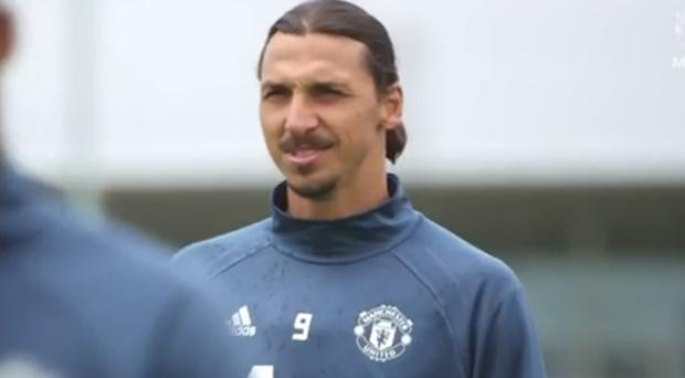 Zlatan Ibrahimovic was getting used to the conditions at Carrington